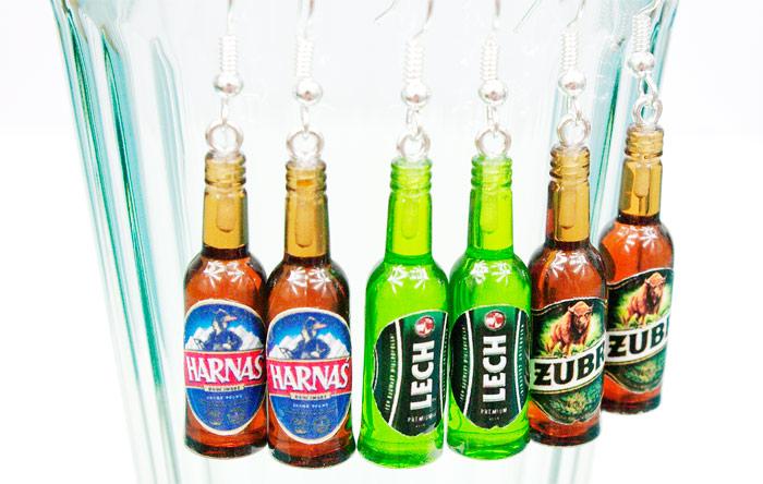 kolczyki piwa