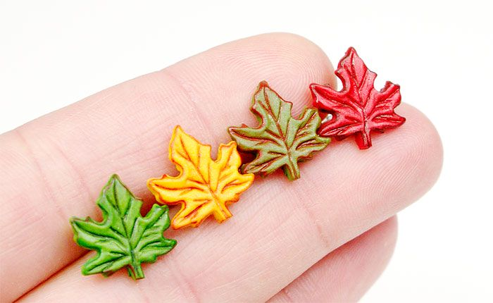 kolczyki liście
