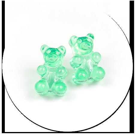 plug-in earrings jelly bear no. 3