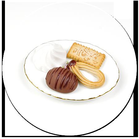magnes talerzyk ze słodyczami