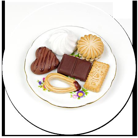 magnes talerzyk ze słodyczami nr 3