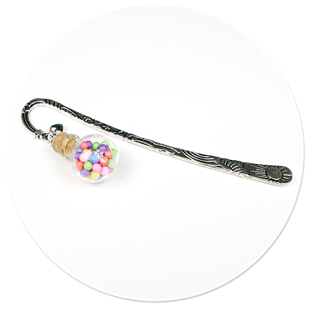 bookmark glass ball with sweets no. 2