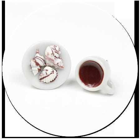 kolczyki wtykane kawa z parlinami nr 2