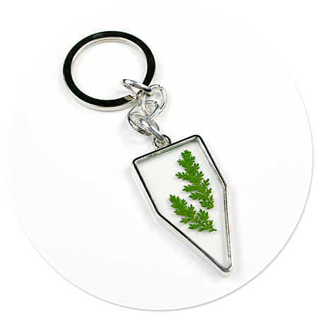 keyring with plant