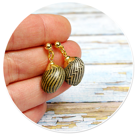 plug-in earrings shell sailor no. 3