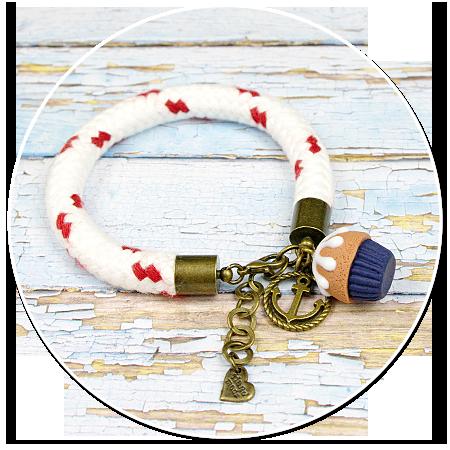 sailor's bracelet with cupcake no. 5