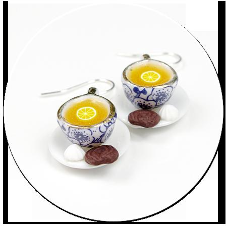 kolczyki filiżanki z herbatą nr 2