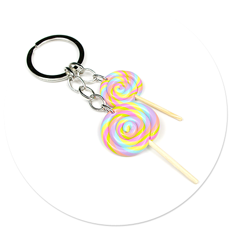 keyring with lollipops no. 3