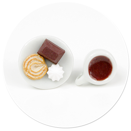 kolczyki wtykane kawa ze słodyczami nr 4