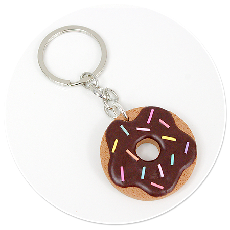 keyring with cookie donut