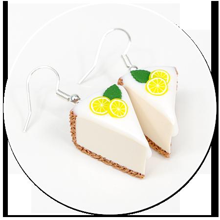 earrings cheese cake (fruits) no. 7