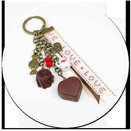 breloczek z czekoladkami