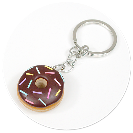 keyring with donut no. 4
