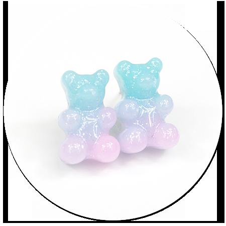 plug-in earrings jelly bear no. 6