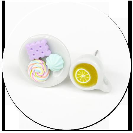 kolczyki wtykane herbatka ze słodyczami nr 3