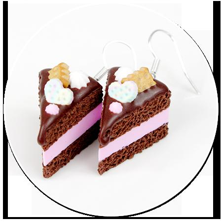 kolczyki torty czekoladowe nr 4
