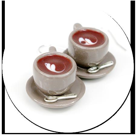 kolczyki filiżanki z kawą nr 3