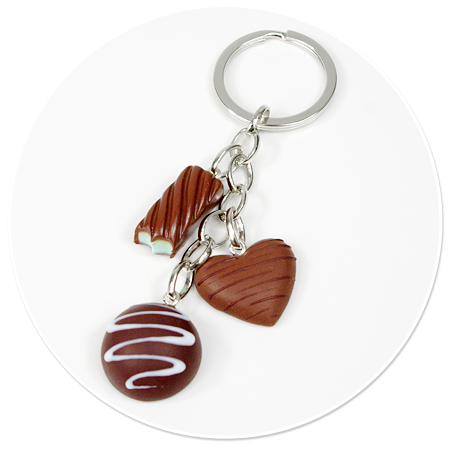 keyring with pralines no. 5
