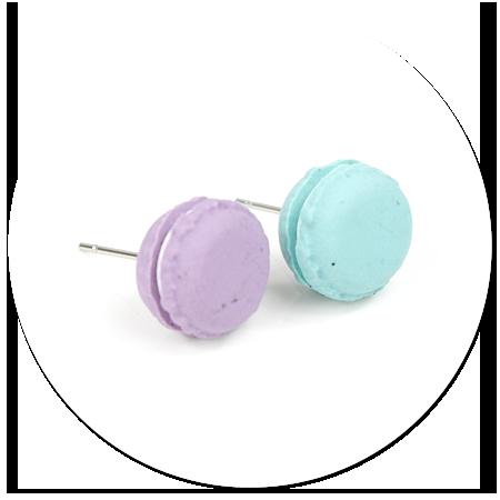 plug-in earrings macaroons no. 3