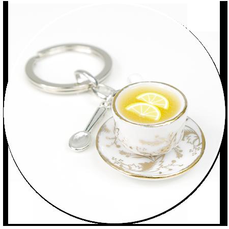 breloczek filiżanka z herbatą