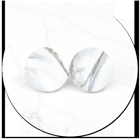 marble plug-in earrings no. 21