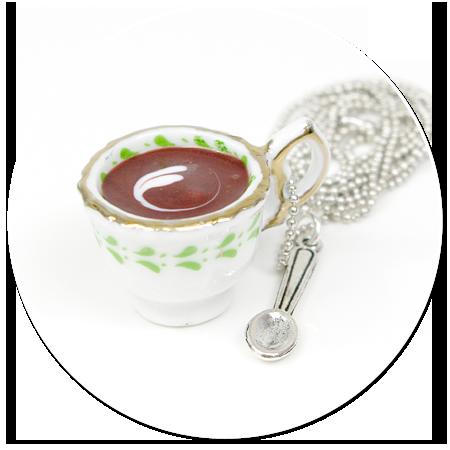 naszyjnik filiżanka z kawą nr 2
