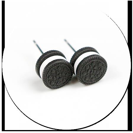 plug-in earrings oreo no. 5