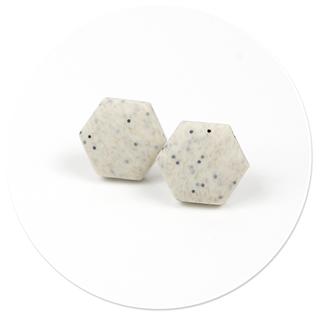 kolczyki kamienne heksy (średnie)