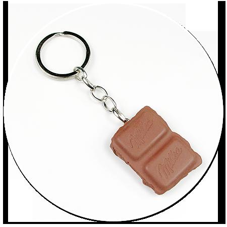 keyring piece of chocolate no. 2