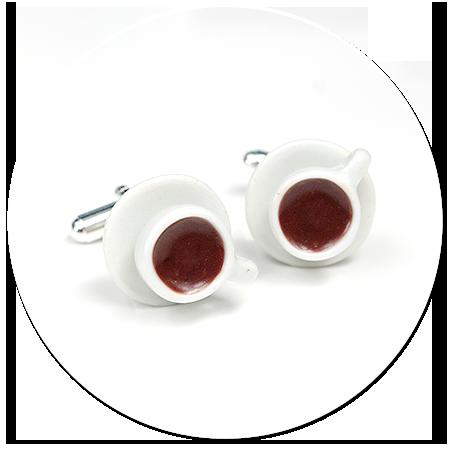 spinki do mankietów z kawą nr 4