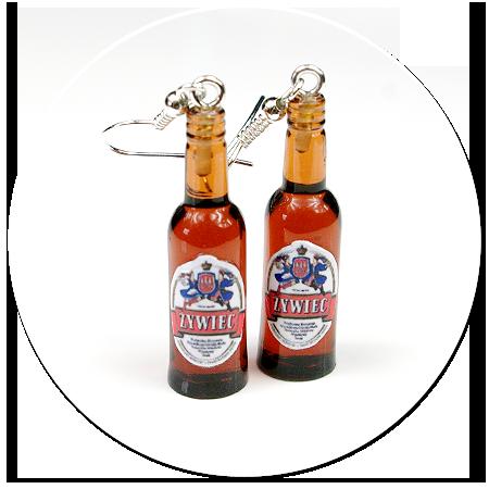 kolczyki butelki piwa nr 6