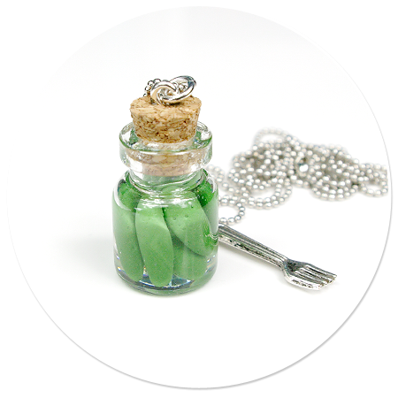 necklace with cucumbers no. 2