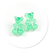 plug-in earrings jelly bear no. 3