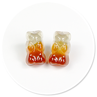 plug-in earrings Cola teddy bear