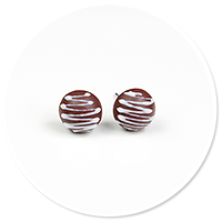 plug-in earrings pralines no. 2
