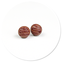 plug-in earrings pralines no. 3