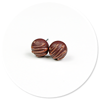 plug-in earrings pralines no. 7