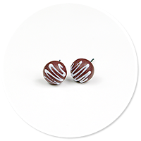 plug-in earrings pralines no. 9