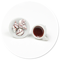 plug-in earrings coffee with pralines no. 2