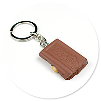 keyring chocolate with nuts no. 3