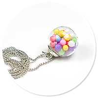 necklace ball with candies no. 8