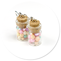 earrings jar with candies no. 3
