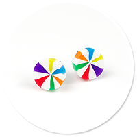 kolczyki wtykane kolorowe cukierki
