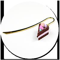 zakładka z tortem czekoladowym