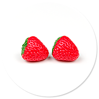 plug-in earrings strawberries