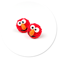 plug-in earrings Elmo no. 2