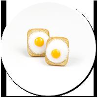 kolczyki wtykane tosty z jajkiem