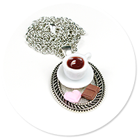 necklace tray with coffee and sweets no. 2