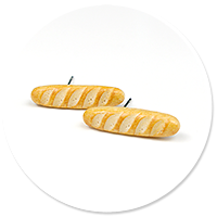plug-in earrings with baguettes
