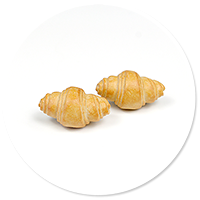 plug-in earrings croissants